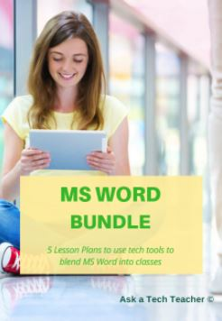 lesson plans for ms word