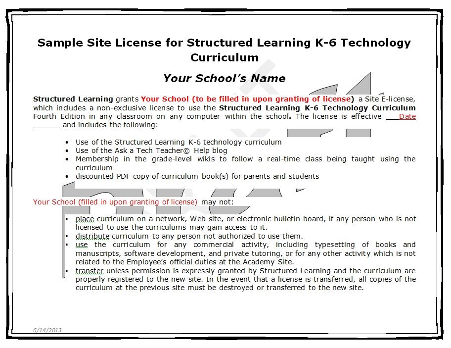 school licenses