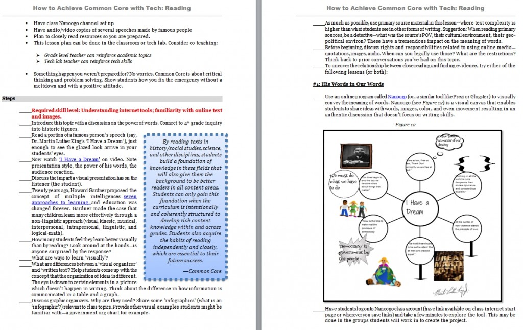 Common Core Reading Structured Learning