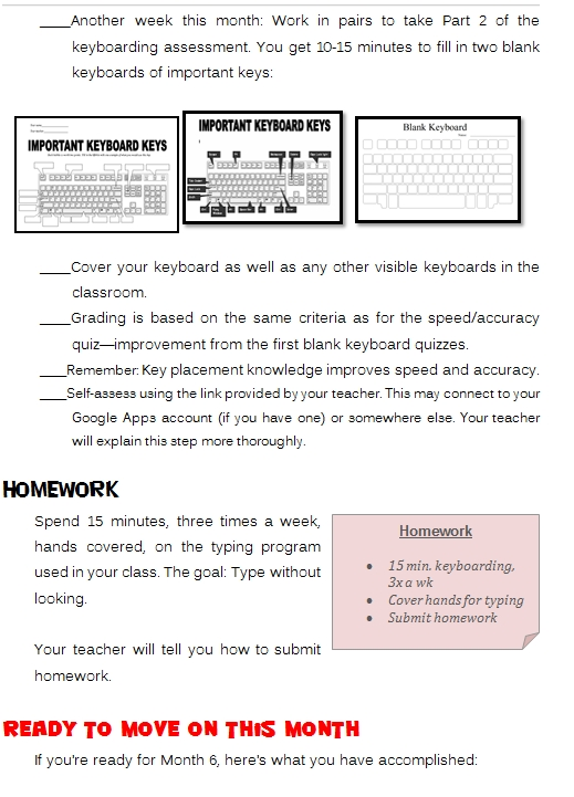 Student Keyboarding Workbook 4th Grade Structured Learning